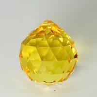 Feng Shui 30mm Swarovski Crystal - Yellow | Calgary Alberta