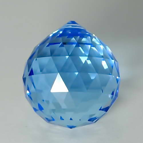 Feng Shui 30mm Swarovski Crystal - Sapphire Blue   Calgary Alberta