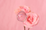 Pink Crystal with Roses