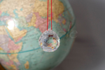 Clear Crystal with Globe