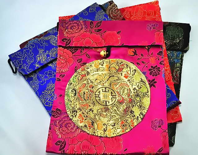 Silk Bag with Dragon Symbols