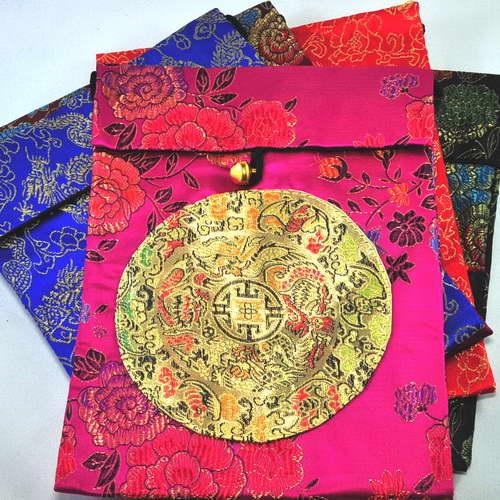 Silk Bag with Dragon Symbols