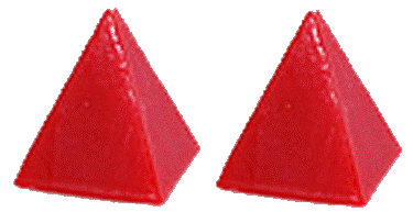 Red Pyramid Candles